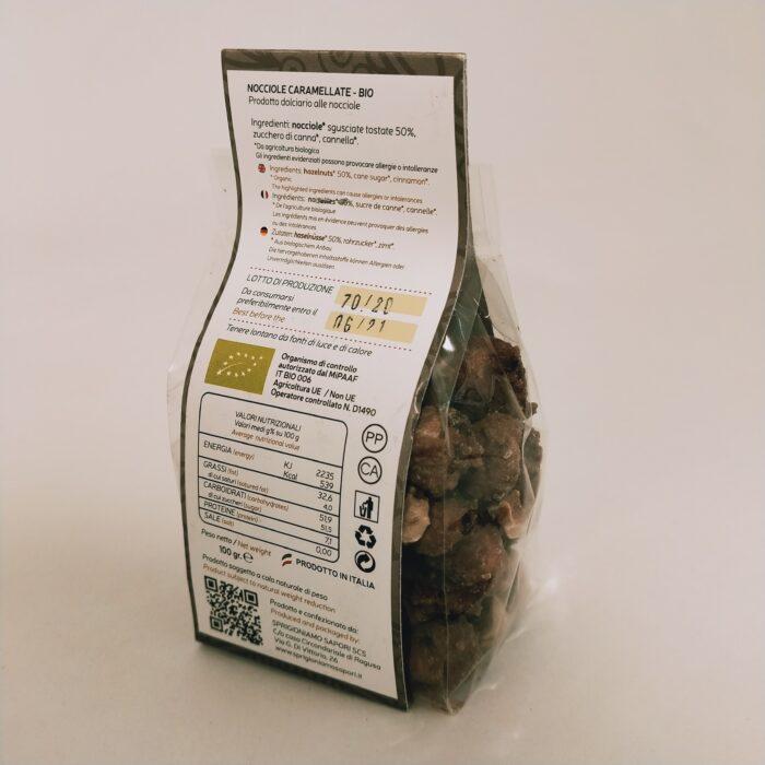 Nocciole caramellate Biologiche retro
