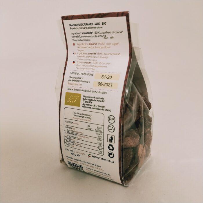 Mandorle caramellate Biologiche retro