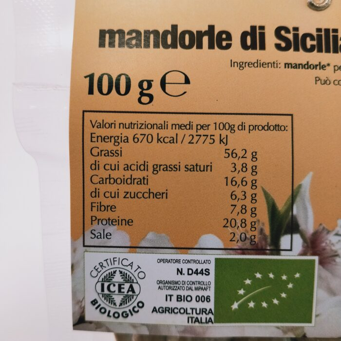 Mandorle tostate salate Bio retro