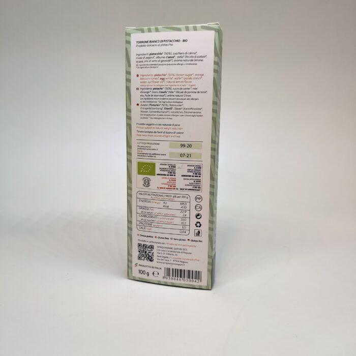 Torrone morbido pistacchio biologico