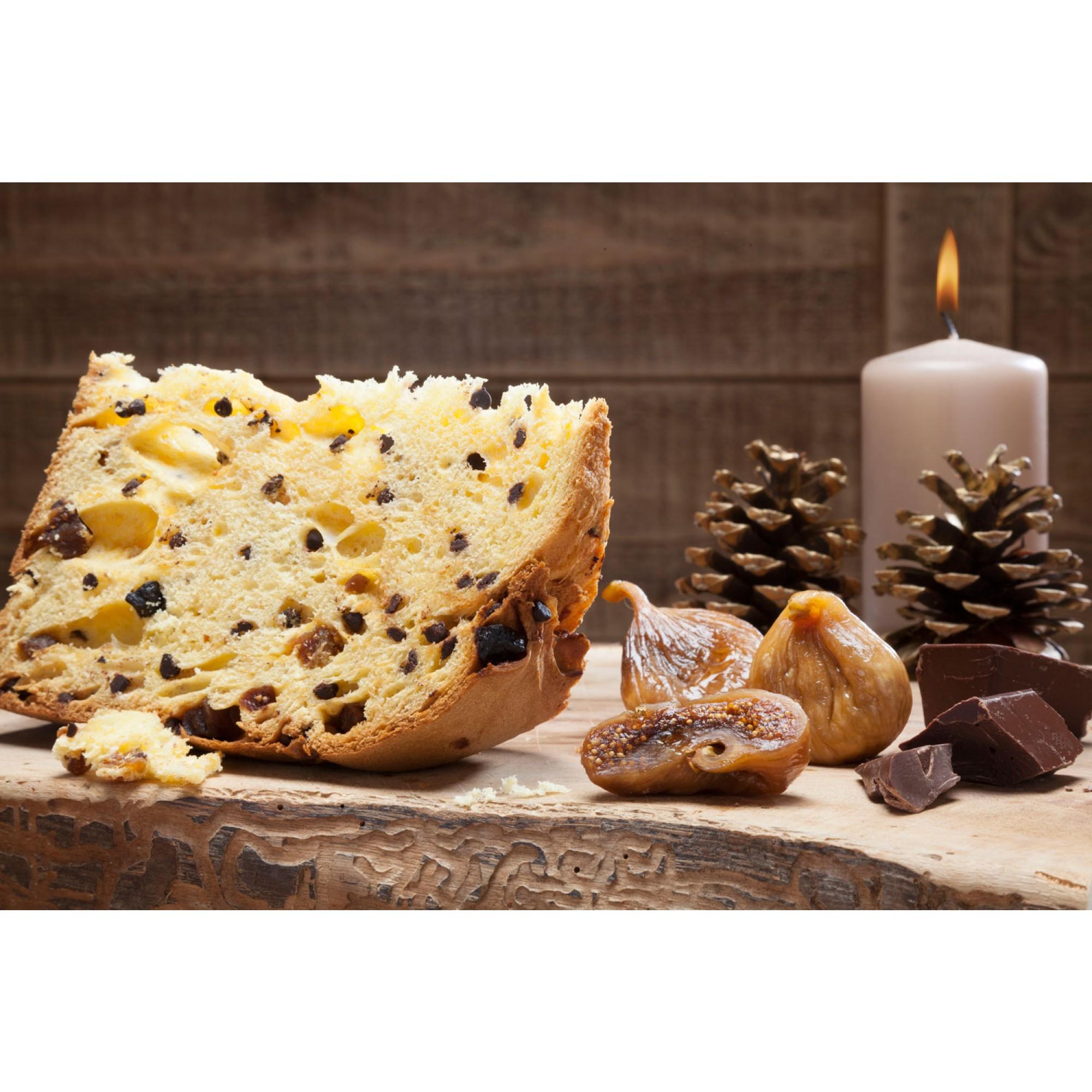 Panettone artigianale cioccofichi dettaglio