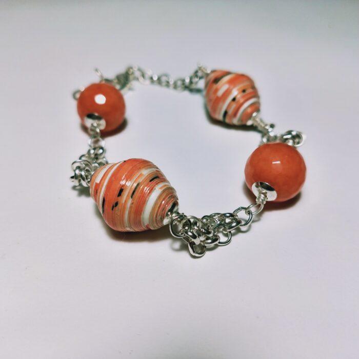 Bracciale arancio rosso