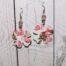 Orecchini plastificati quadrifoglio
