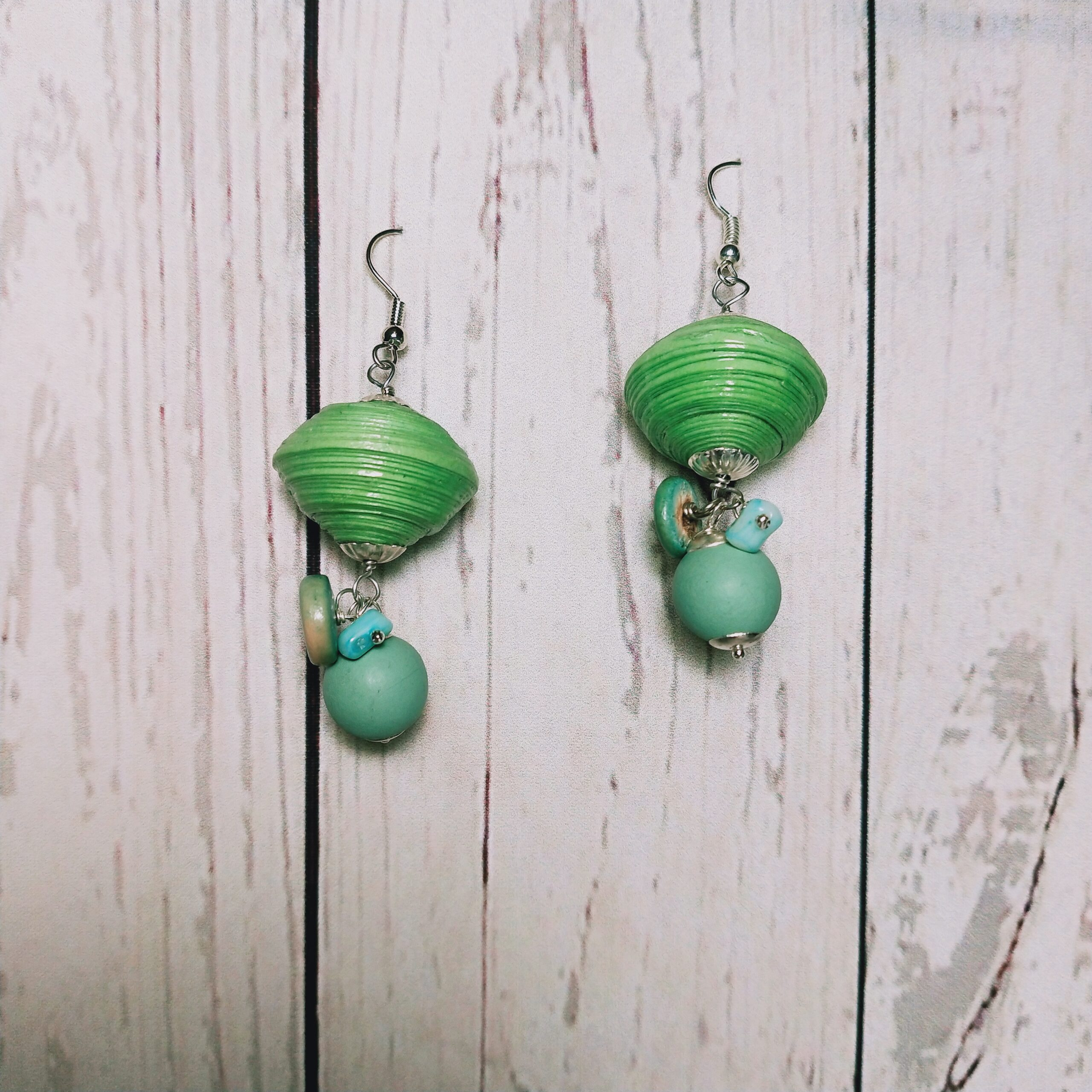 orecchini verde prato
